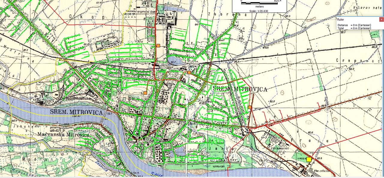 sremska mitrovica mapa Sremska Mitrovica mapa – Срем гас sremska mitrovica mapa